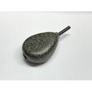 Matt Army Green Inline Flat Pear