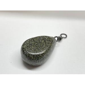 Matt Army Green Flat Pear