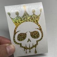 Gold Sparkle Voodoo Logo Sticker